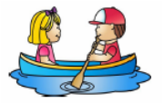 Friends in a paddle boat